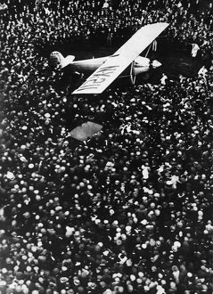 Lindbergh Arrives In Croydon