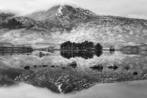 Loch na h-Achlaise #2 in BW