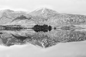 Loch na h-Achlaise #3 in BW