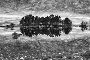 Loch na h-Achlaise #5 in BW