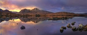 Lochan na h-Achlaise Sunset Panoramic