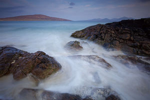 Long Exposure Seascape on the Isle of Harris in Scotland
