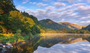 The Lower Lake in Glendalough in the morning, County Wicklow, Ireland