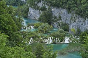 travel/destinations croatia plitvice lakes national park/lower lakes small waterfalls plitvice lakes national