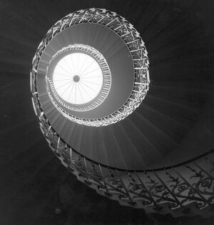 The main spiral staircase at Queen's House, Greenwich