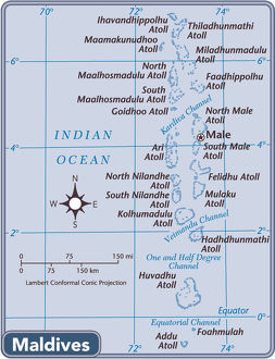 Maldives country map