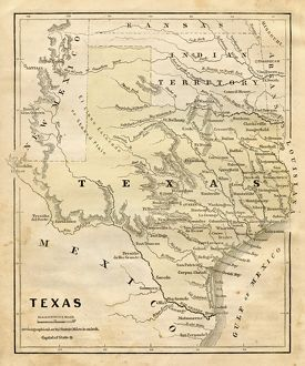 Map of Texas 1856