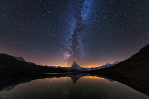 Matterhorn with Milky way