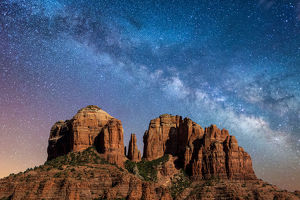 Below the milky way at Cathedral Rock