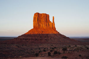 Monument Valley Butte at sunset