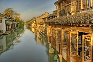 Morning sunshine at Wuzhen