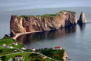 Mount- Sainte-Anne Percé Rock View