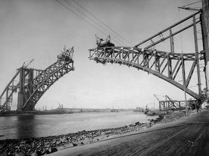 Nearly Finished; Construction of Hellgate Bridge, New York City