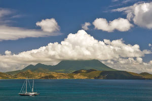 Nevis view as seen from St Kitts