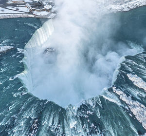Niagra Horseshoe Falls from above in Winter : Stock Photo Comp Embed Share Add to