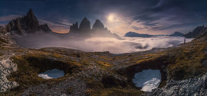 travel imagery/travel photographer collections coolbiere landscapes/night view panorama tre cime di lavaredo