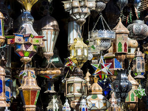 oil lamps sale market medina marrakech marrakech tensift al