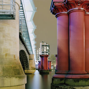 The Old and the new railway bridge at River Thames