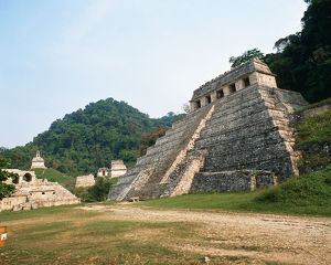 Old ruins in National Park of Palenque, Mexico