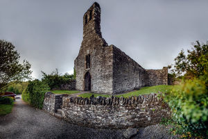Old stone Chapel on ruins of Melifont Abbey, Louth County, Ireland