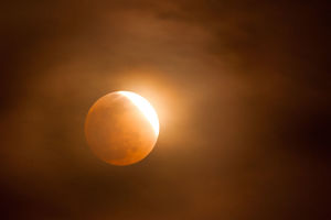 Orange Glow Lunar Eclipse