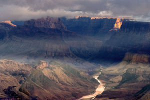 Overview of canyon and Colorado River, Grand Canyon National Park, Arizona, USA
