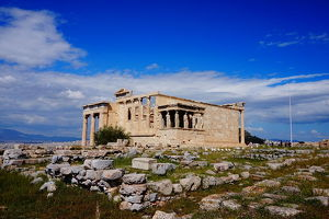 Overview on the Erechtheion Temple, Athens, Greece