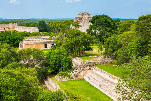 Panorama over Uxmal - Mexico