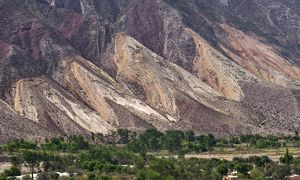 panorama view painters palette northern argentina