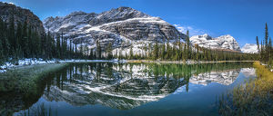 travel/unesco world heritage/panoramic view mary lake lake ohara yoho national