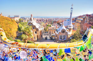 Park Guell and Barcelona City