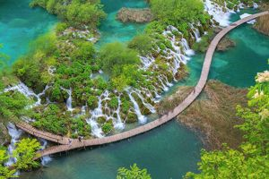 travel/unesco world heritage/park plitvice green natural national spring