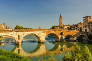 travel imagery/travel photographer collections marius roman travel photography/ponte pietra stone bridge verona italy