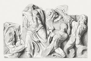Relief from Pergamon Altar, published in 1881