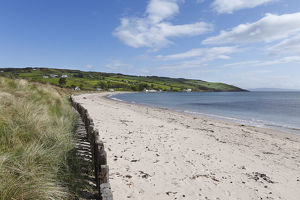 Sandy beach in Cushendun, County Antrim, Northern Ireland, Ireland, Great Britain, Europe