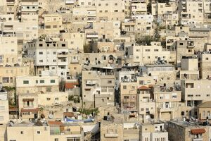silwan palestinian suburb outside old city the