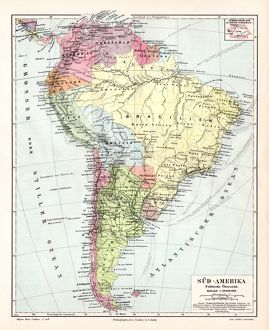 South America political map 1895