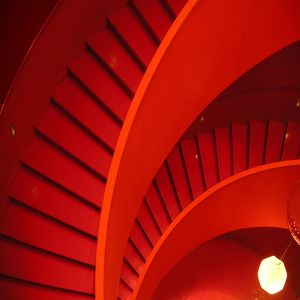 Spiral Red Staircase