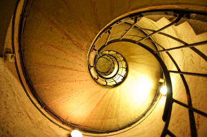 Spiral staircase background