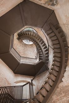 Spiral staircase in Lamberti Tower, Verona Italy
