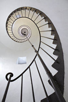 Spiral staircase in lighthouse, Uruguay