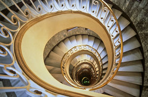 Spiral staircase in Spain