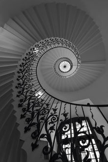 Spiral staircase; Tulip staircase, Queen's House, Greenwich