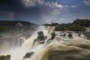 Storm clouds over the Iguazu Falls
