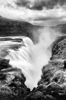 Storm over Gullfoss Waterfall