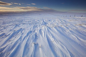 Stunning Winter Wonderland Landscape Photograph in the North Pennines in Northern England