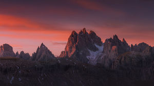 travel imagery/travel photographer collections coolbiere landscapes/sunrise mountain range dolomites