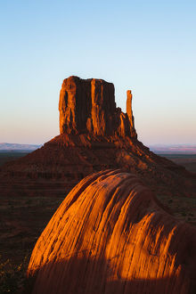 Sunset over famous Monument valley, Arizona, USA