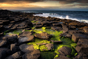 Sunset at The Giant's Causeway