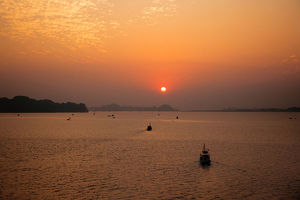 Sunset at Ha Long Bay, Quang Ninh Province, Vietnam